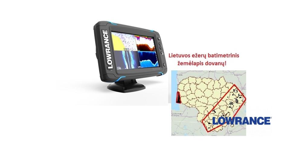El paštas Echolotas Lowrance Elite-7 Ti Mid/High/DownScan, Lowrance