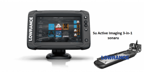 Navigatorius Lowrance Elite-7Ti² su Active Imaging 3-in-1 sonaru